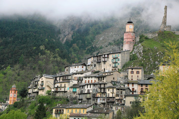 alpine village Tende at the French alps