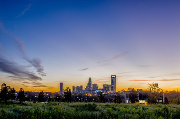 Fotomurales - charlotte north carolina city skyline in north carollina