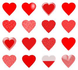 zestaw 16 serc