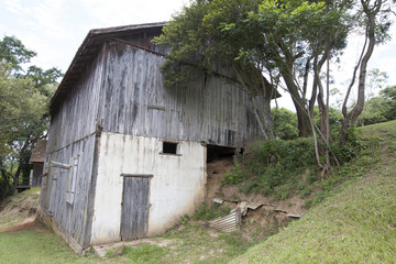 old barn on countryside of brazil