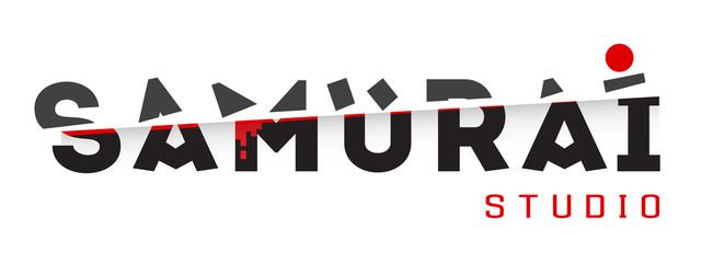 Samurai vector logo template