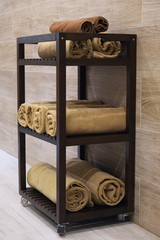 Cabinet with towel s beauty salon