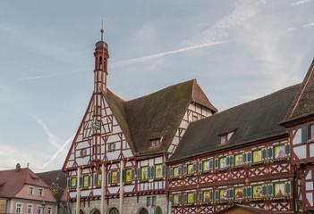 Forchheim Rathaus mit weihnachtlicher Dekoration