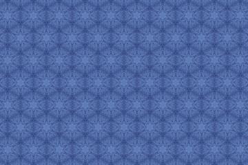 Голубой орнамент с узорами. 2