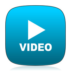 video blue icon