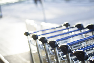 Airport luggage trolleys for baggage