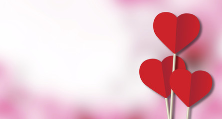 Happy valentine day, fine daisy color tone design, Blur and Select focus background