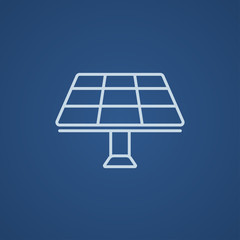 Solar panel line icon.
