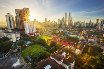 Poster Kuala Lumpur Kuala Lumpur, Malaysia - December 27, 2015. The KLCC Twin Towers