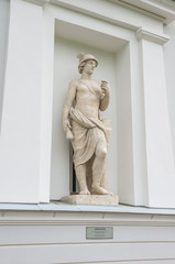 "Statue""Mercury"" in the nicheKitchen pavilion ofYelaginPalace.St. Petersburg."