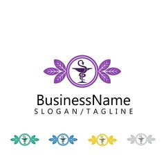 pharmacy logo icon vector