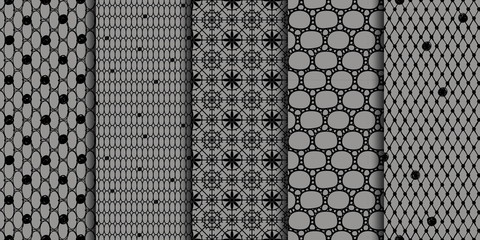 Black seamless patterns