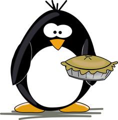 Penguin with pie