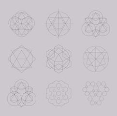 Geometric tattoo set