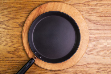 empty pancake pan, view from above