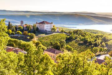 Aiguines, Chateau And Sainte Croix Lake-France