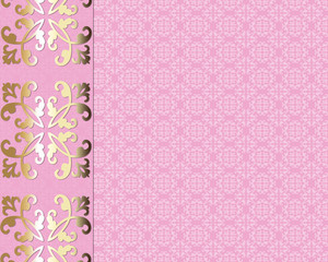 Pink and golden card