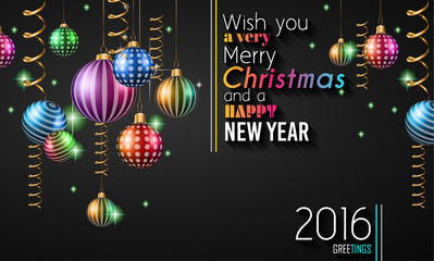 2016 Happy New Year Background for your Flyers and Greetings Card