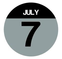 7 july calendar circle