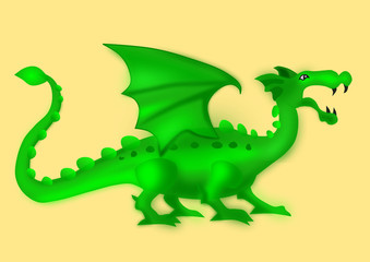 Isolated green dragon