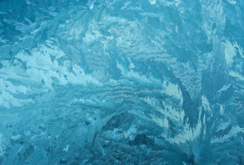 Pattern of the ice surface.