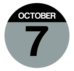 7 october calendar circle