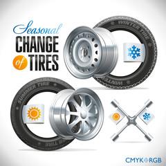 Seasonal Change of Tires
