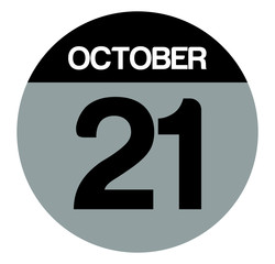 21 october calendar circle