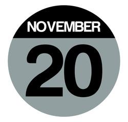20 november calendar circle