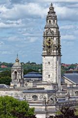 Uhrentrum Rathaus Cardiff, Wales