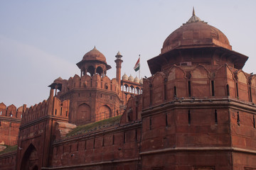 The main entrance of the Lal Quila, Red Fort in Delhi