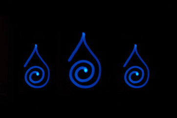 Spiral Rain Drops
