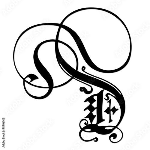 Lettre d en gothique orne fichier vectoriel libre de droits sur lettre d en gothique orne thecheapjerseys Choice Image