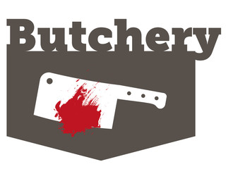 Butchery Sign with blood stain