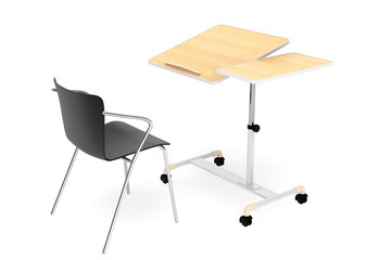Wooden School, Home and Office Laptop Desk with Chair