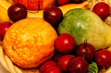 Frutta finta decorazione