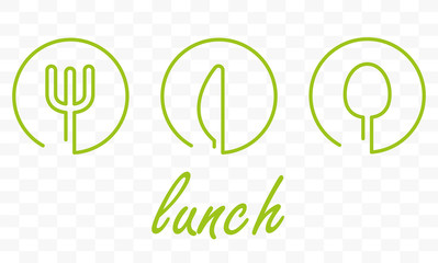 Restaurant icons. Scrawled cutlery signs over white background. vector illustration