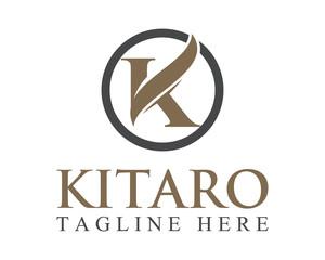 Business corporate letter K logo design vector. letter k logo circle.
