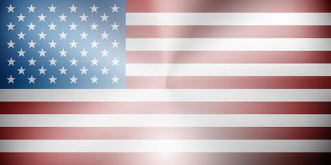 USA flag metallic