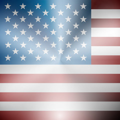 USA flag metallic