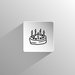 cake birthday Doodle black icon