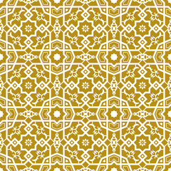 Seamless background image of vintage cross square polygon star geometry lace pattern.