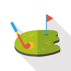 golf game flat icon
