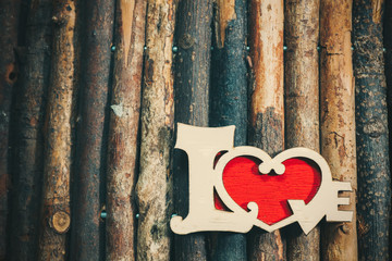 Love in wood