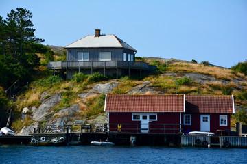 Blick zur Insel Mollon bei Mollösund