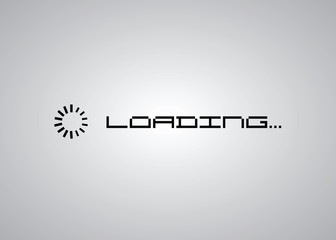 Loading in progress icon simple style, vector eps10 illustration