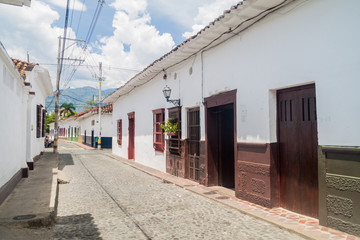 Old colonial houses in Santa Fe de Antioquia, Colombia.