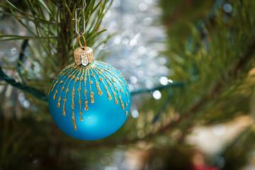 Christmas. Holiday decorations pine