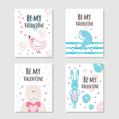 Beautiful cute cards for Valentine's day