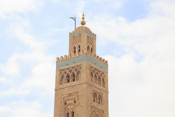 Koutoubia Mosque, Marakesh, Morocco, Africa, the main mosque and